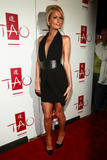 Paris Hilton in low-cut black dress promotes her MTV reality show Paris Hilton's My New BFF at Tao in Las Vegas