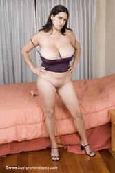 Image 20 of Romina Lopez's huge titties in purple