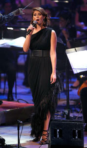 Gemma Arterton performs at Tim Rice A Life In Song in London 07-08-2014