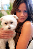 Rachel Specter and her cute lil dog *NEW PIC*